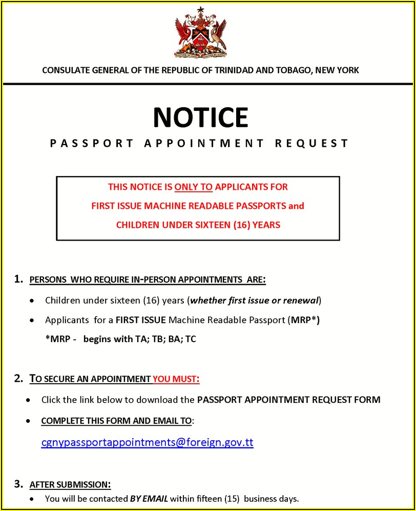 Guyana Passport Renewal Form Toronto