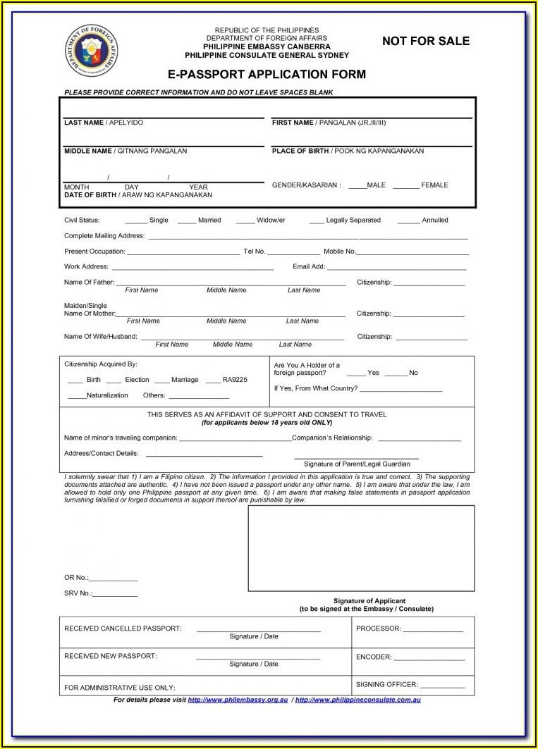 Guyana Passport Renewal Form Trinidad