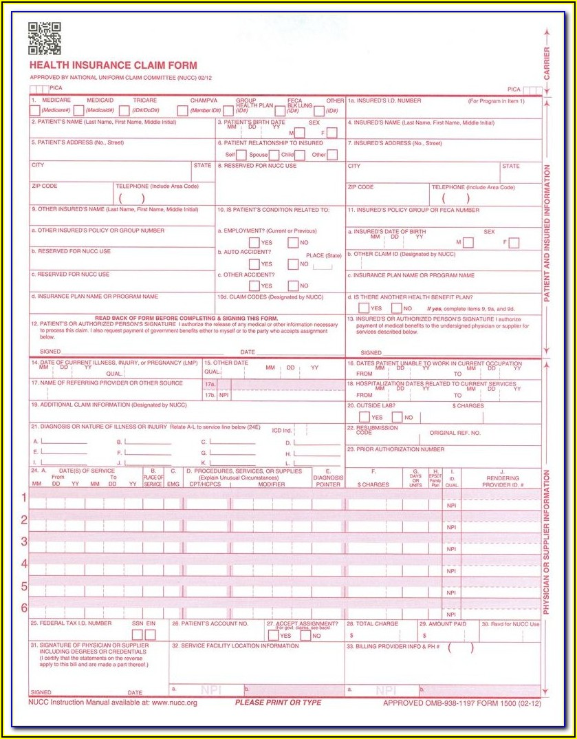 Hcfa Form 1500 Free Download