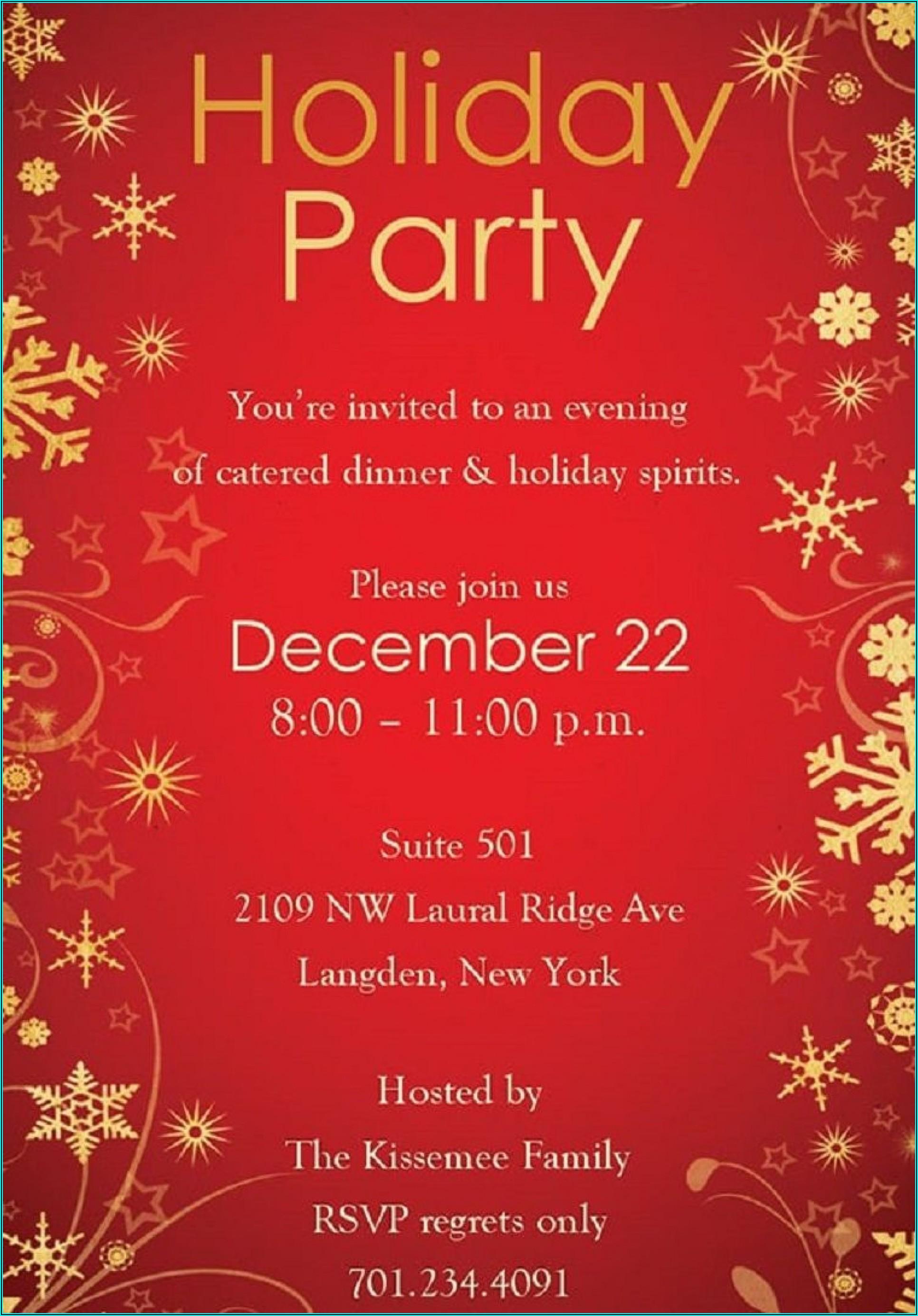 Holiday Invitation Templates Microsoft Word