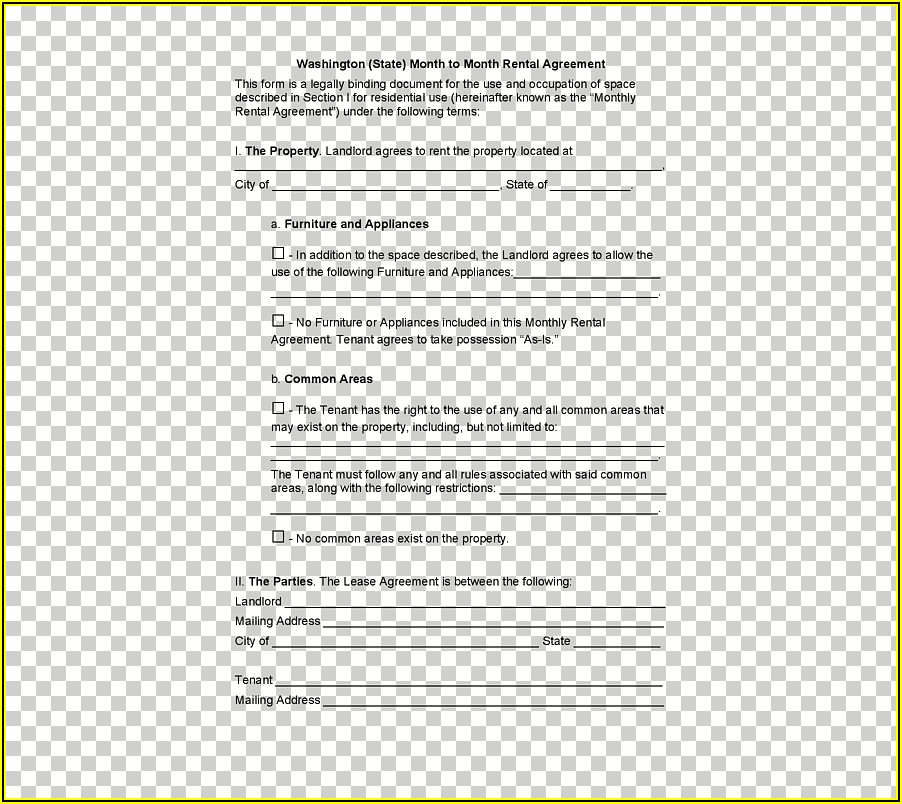 House Rental Agreement Form Free Download