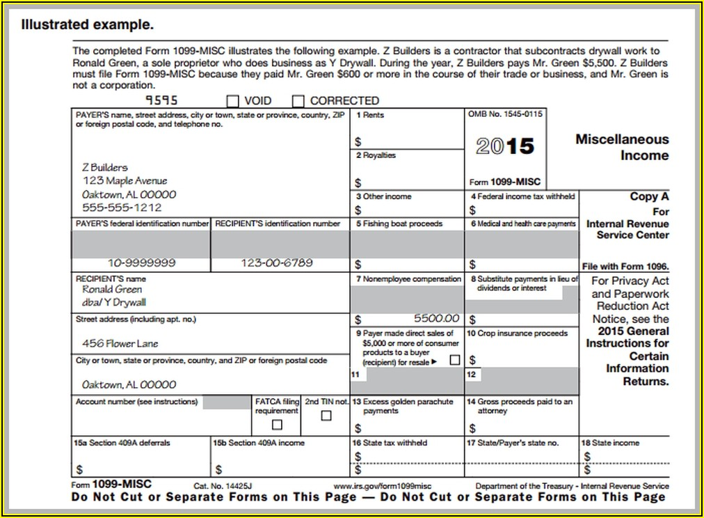 How To Fill Out 1099 Form For Independent Contractor