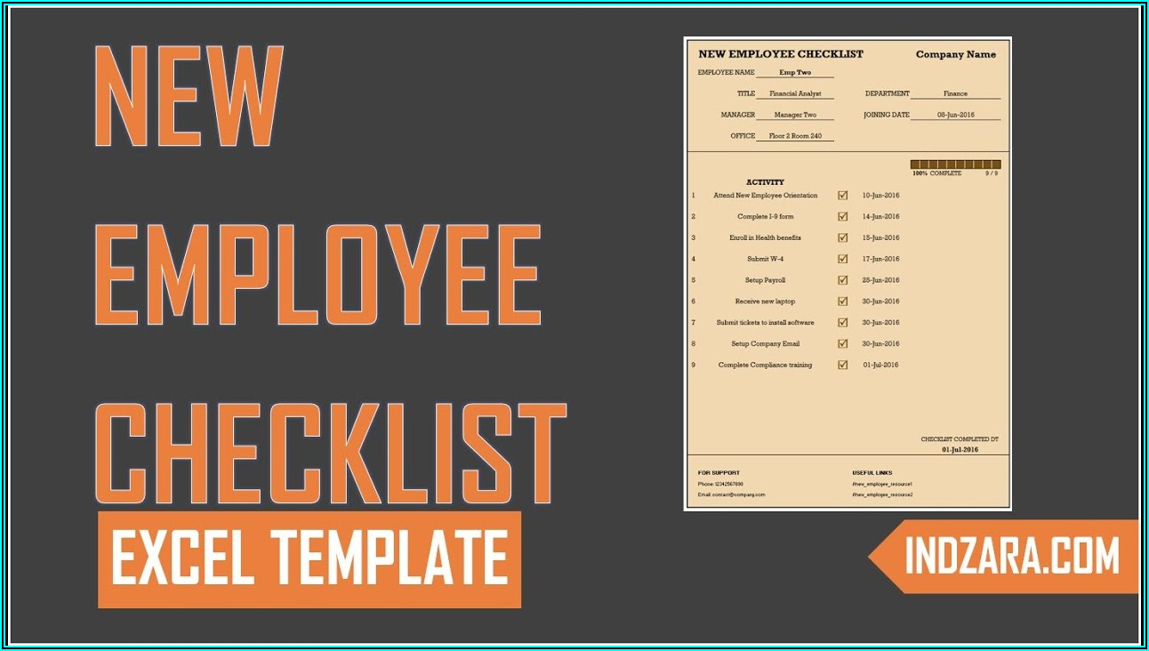 Hr Onboarding Checklist Template Excel