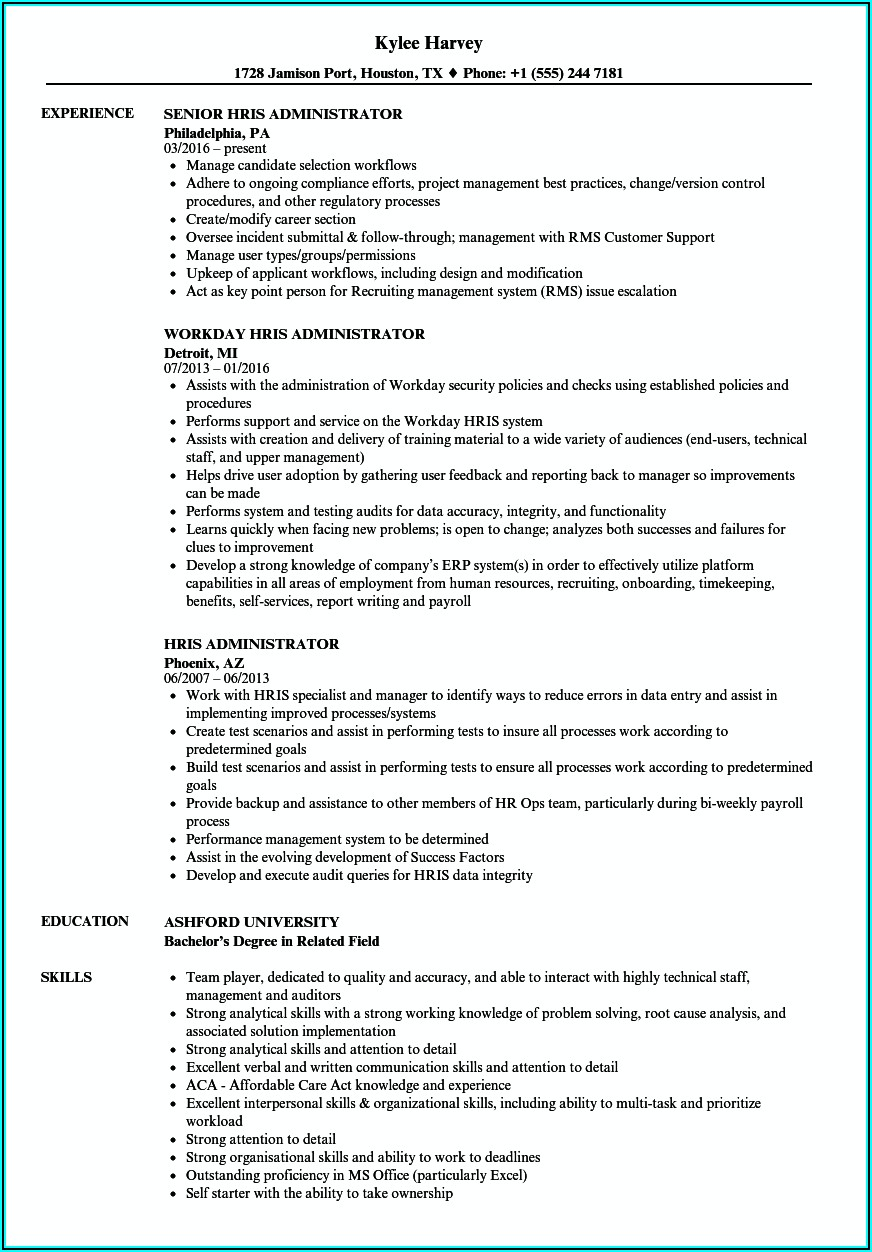 Hris Requirements Document Template