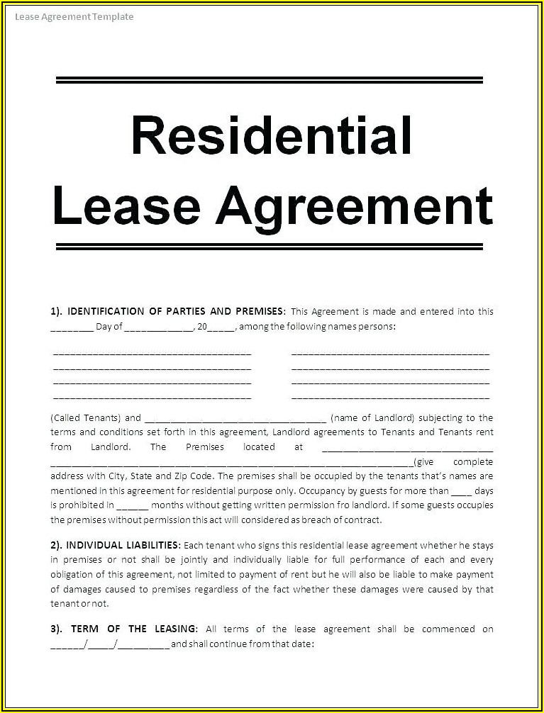 Idaho Residential Rental Agreement Form