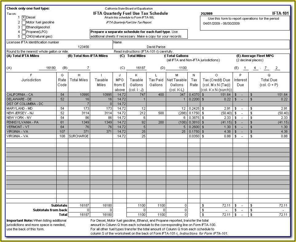 Ifta Quarterly Report Form Oklahoma