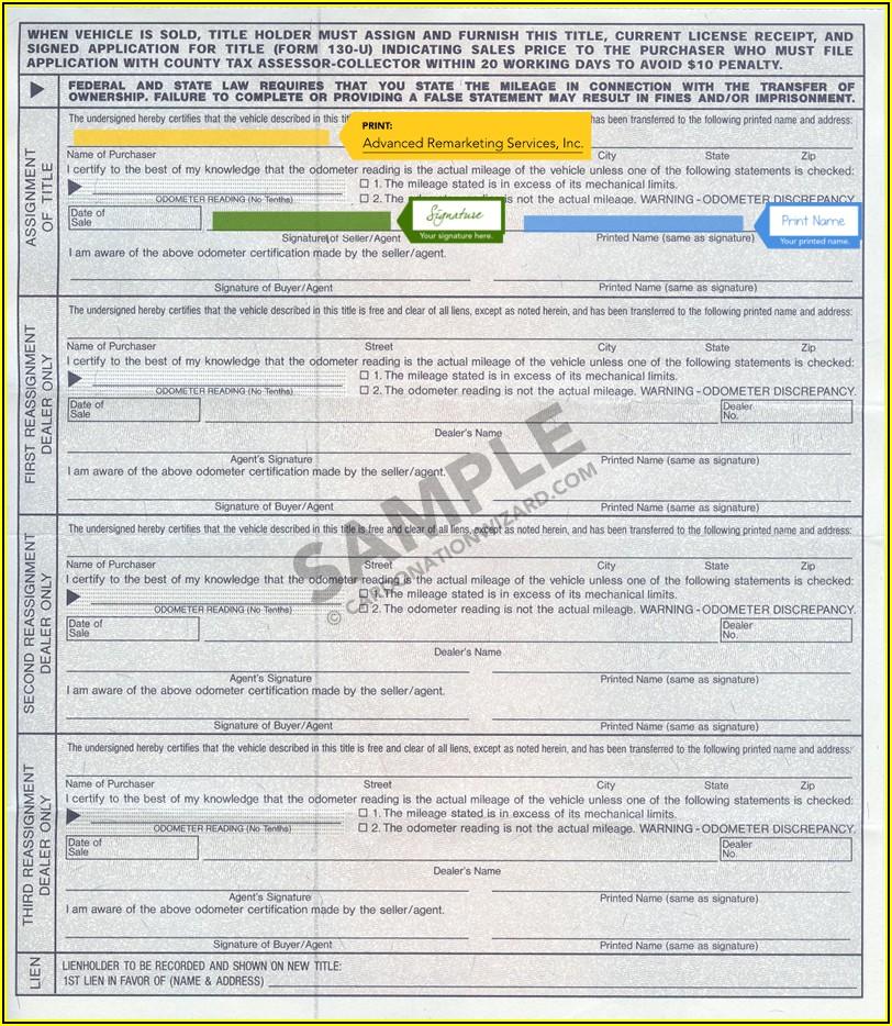 Indiana Notary Sample