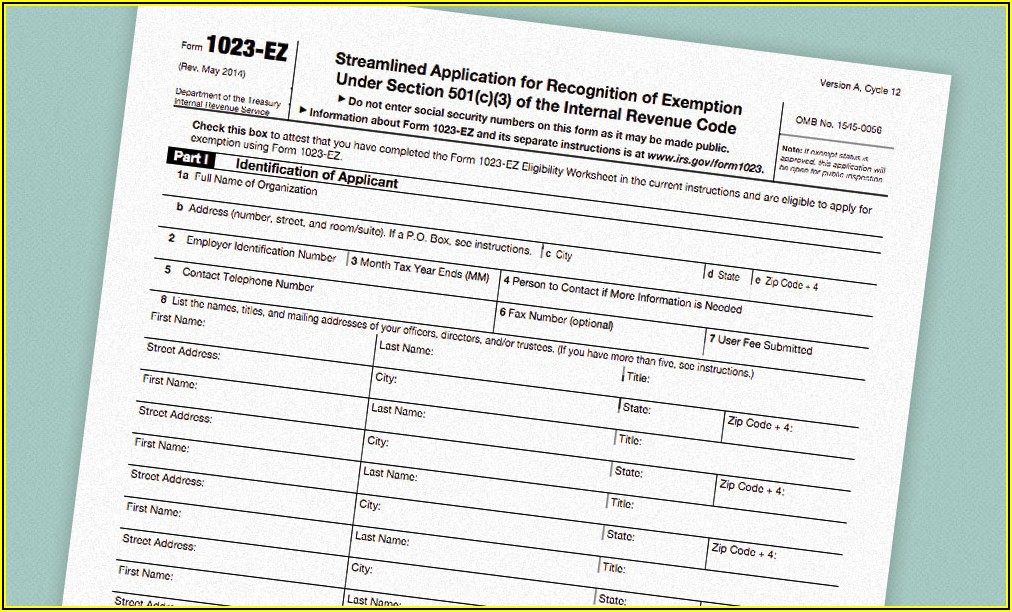 Irs Application For 501(c)(3)