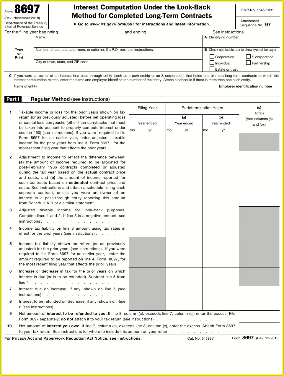 Irs Form 1031 Instructions