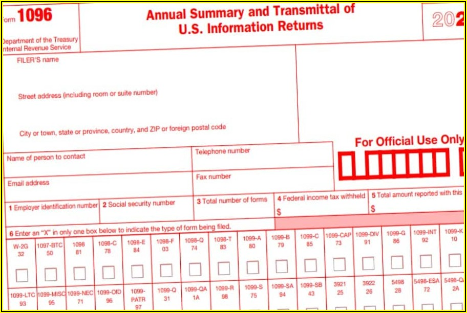 Irs Form 1096 Mailing Address