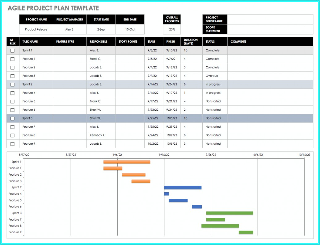 Ms Excel Project Management Template