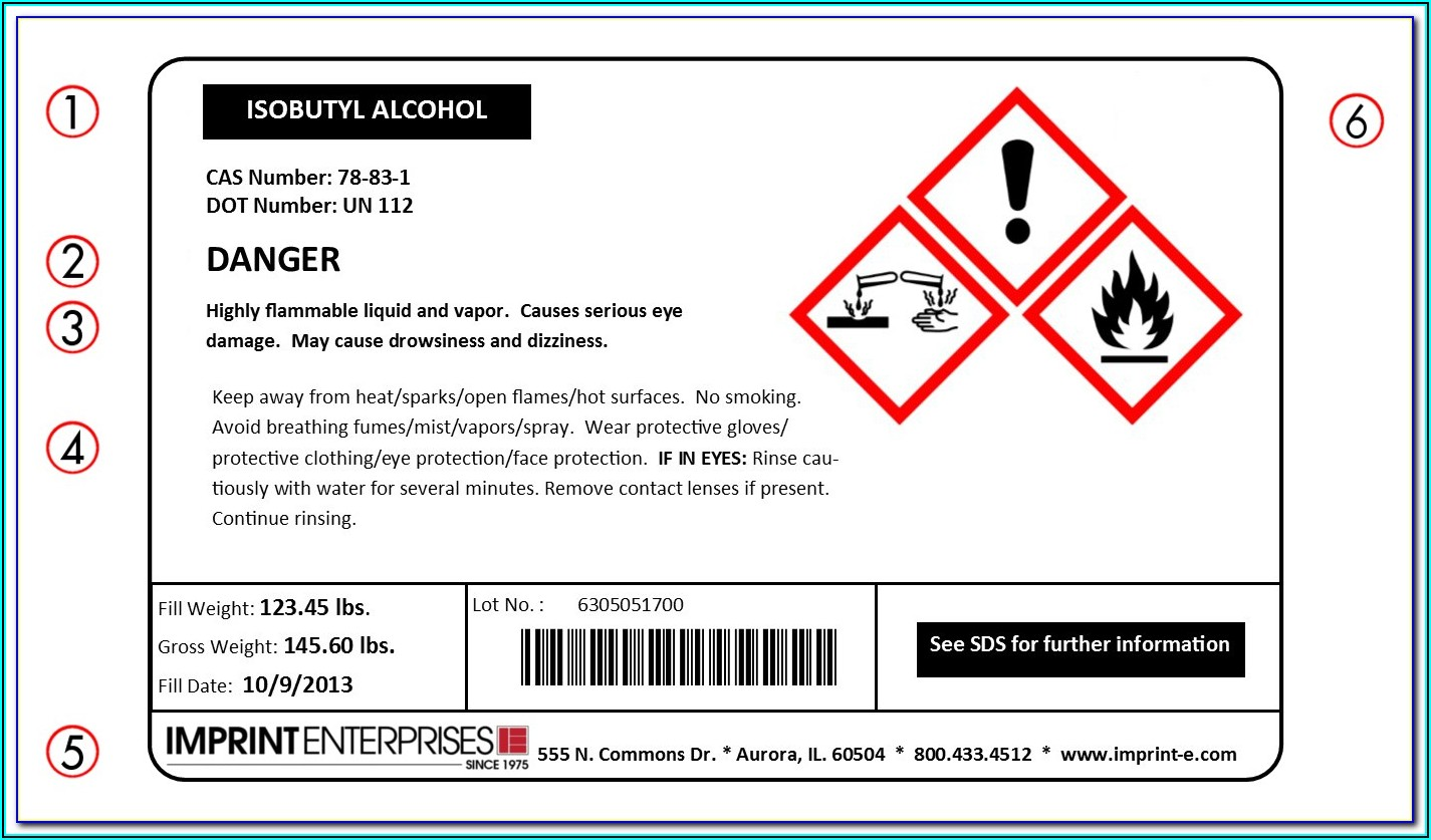 Msds Label Template