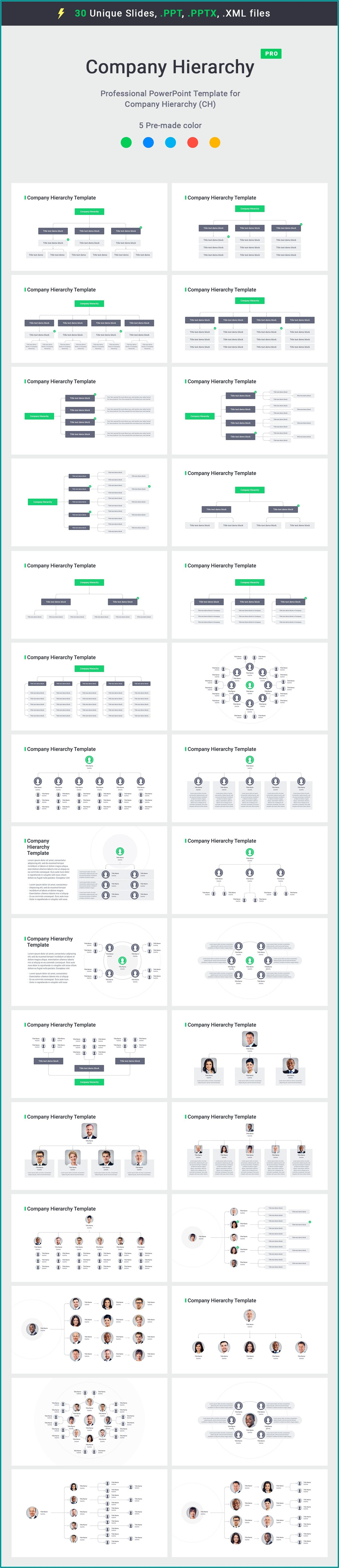 Org Chart Template For Keynote