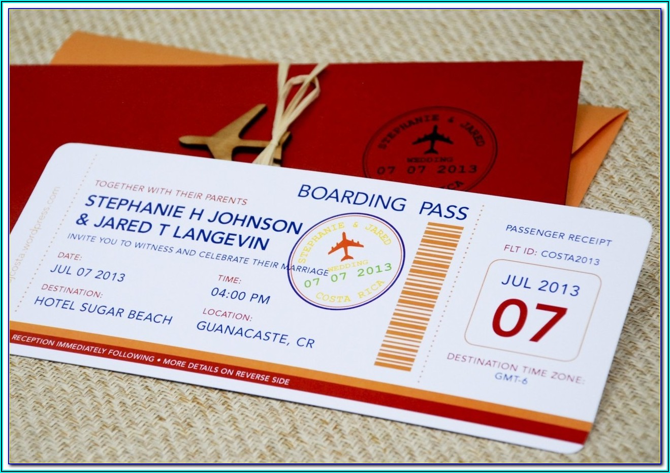 Plane Ticket Invitation Template Free