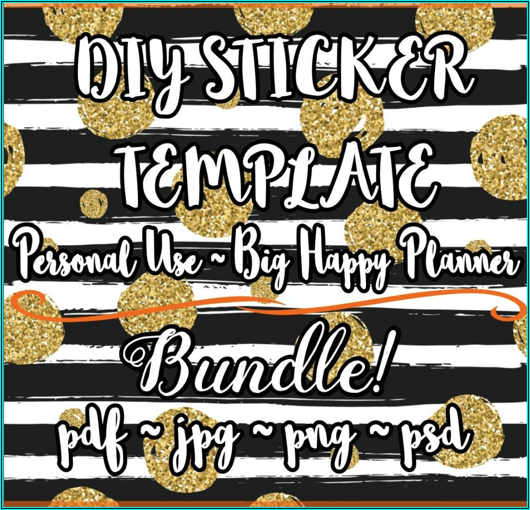 Printable Sticker Template