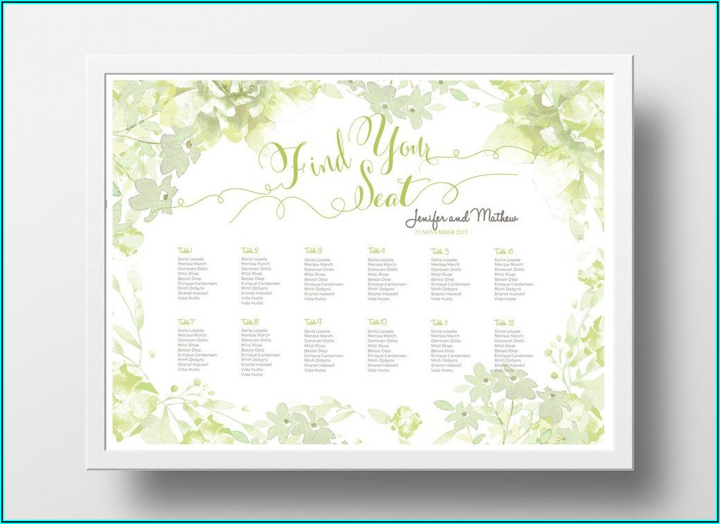 Seating Chart Poster Template