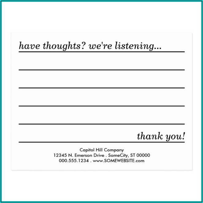 Suggestion Box Card Template