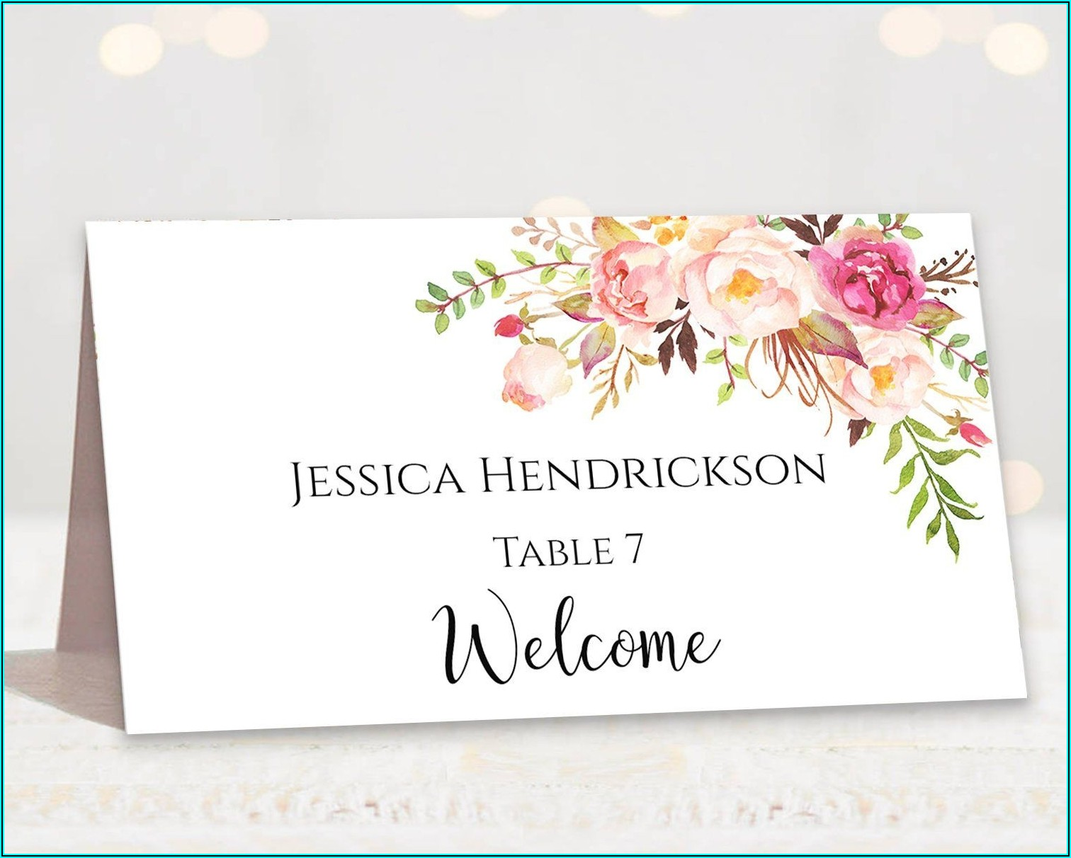 Wedding Reserved Seating Signs Template