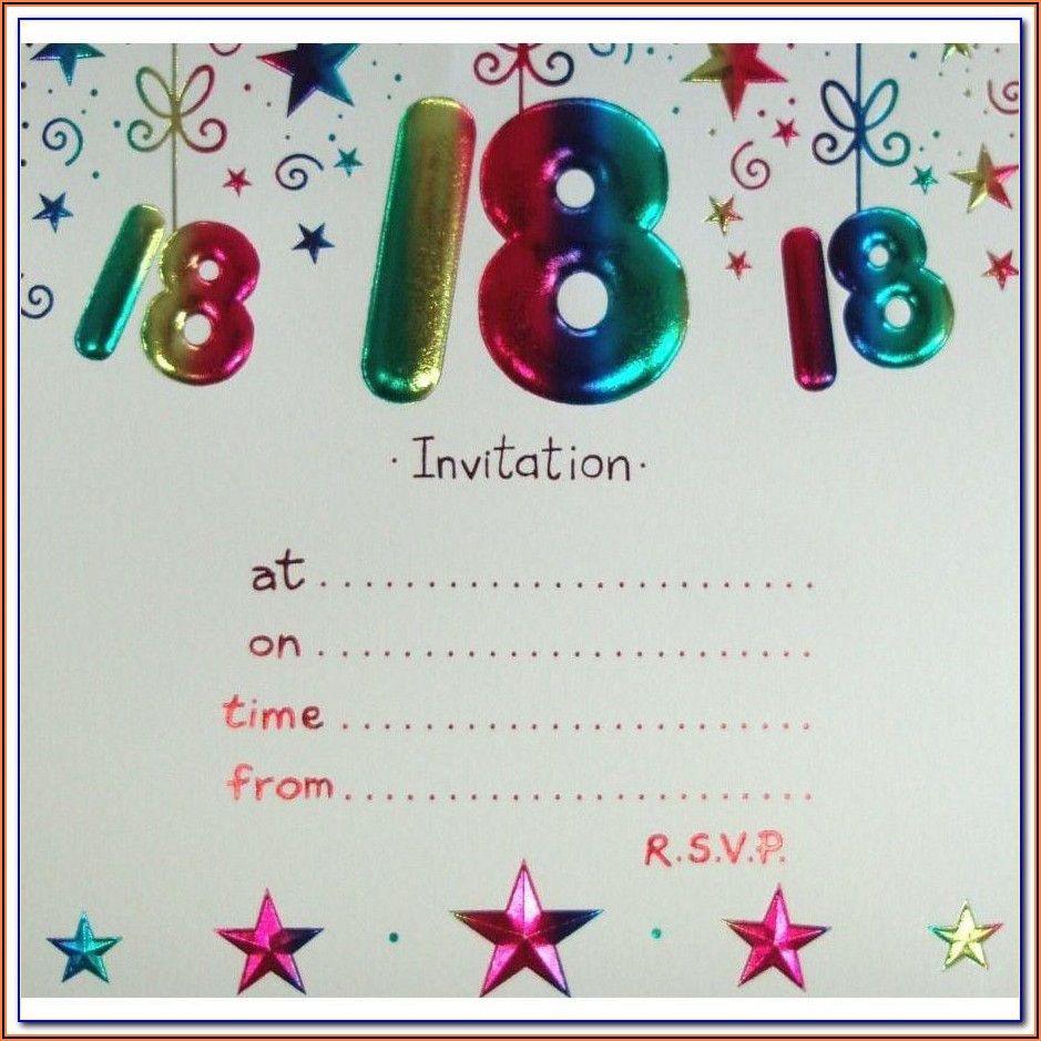 18th Birthday Invitation Template Boy