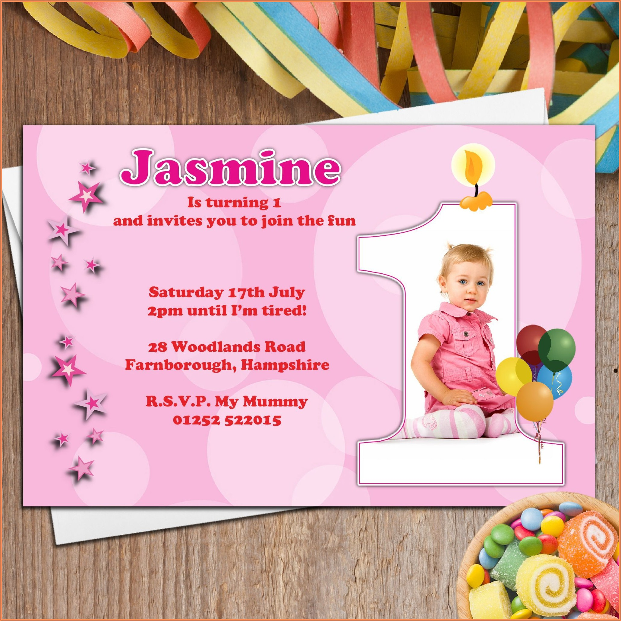 1st Birthday Invitation Card For Baby Boy In Hindi