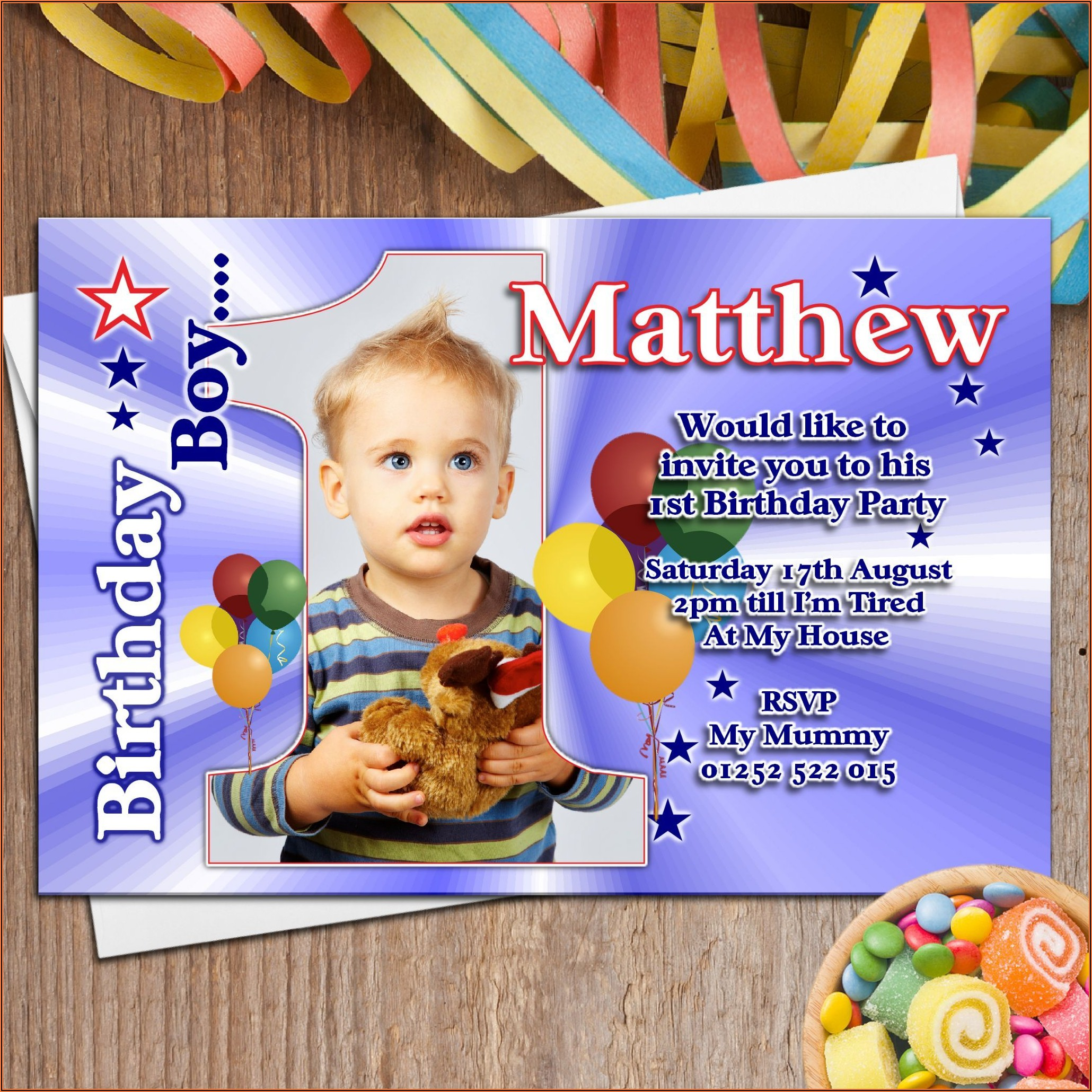 1st Birthday Invitation Card For Baby Boy In Marathi