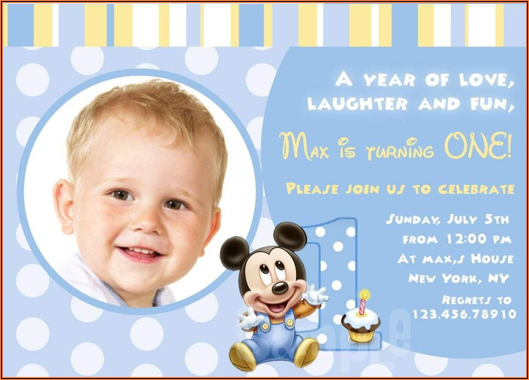 1st Birthday Invitation Card For Baby Boy In Telugu