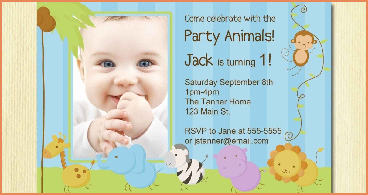 1st Birthday Invitation Card India