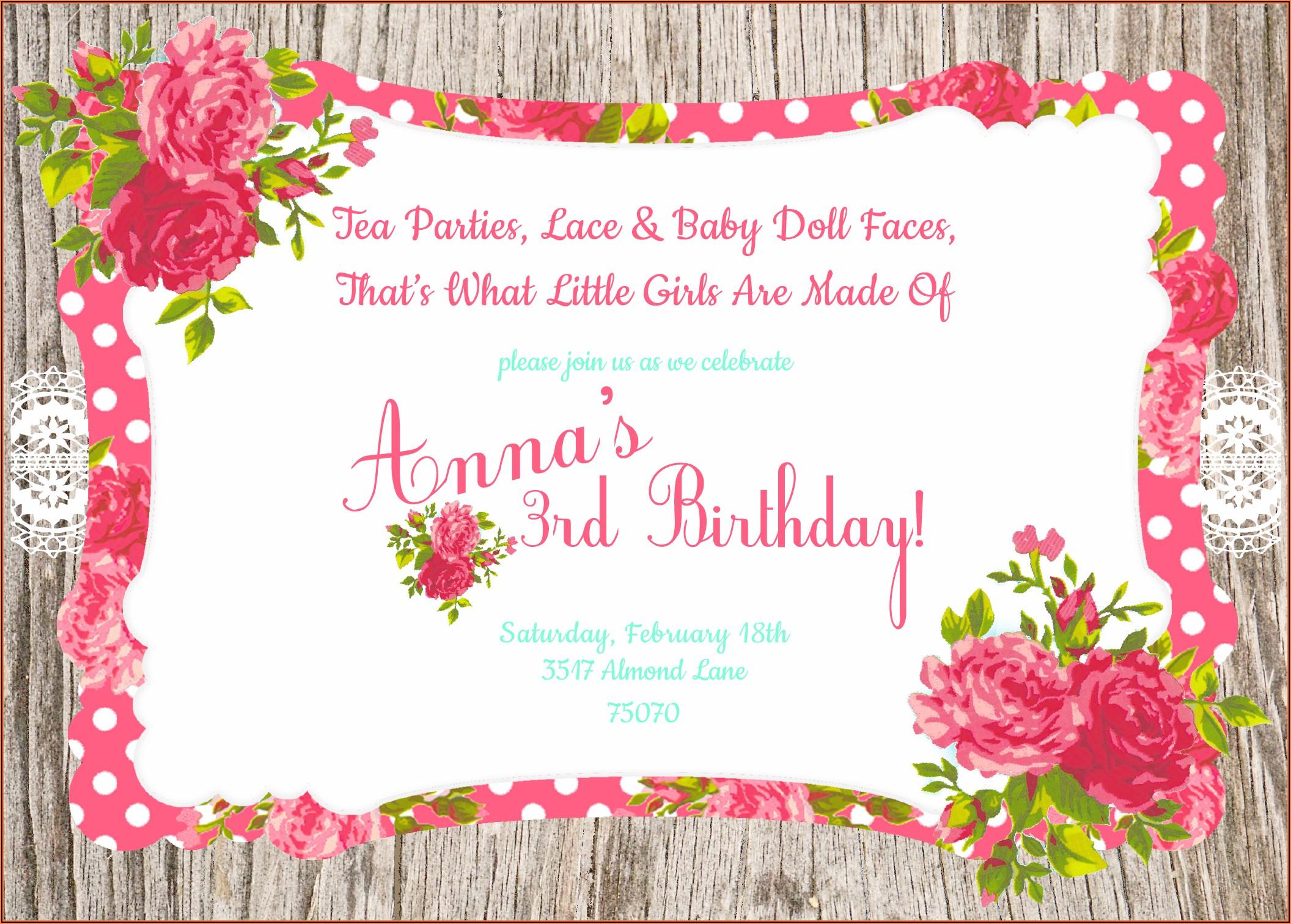 1st Birthday Invitation Card Png
