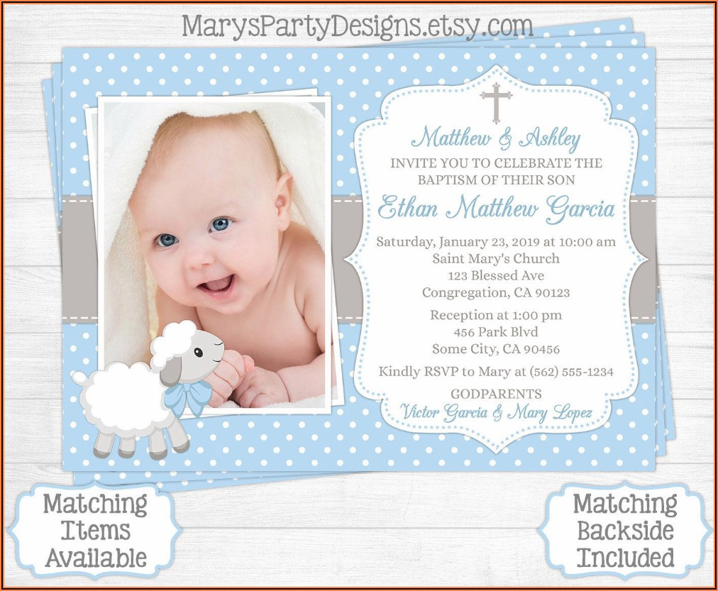 1st Birthday Invitation For Baby Boy