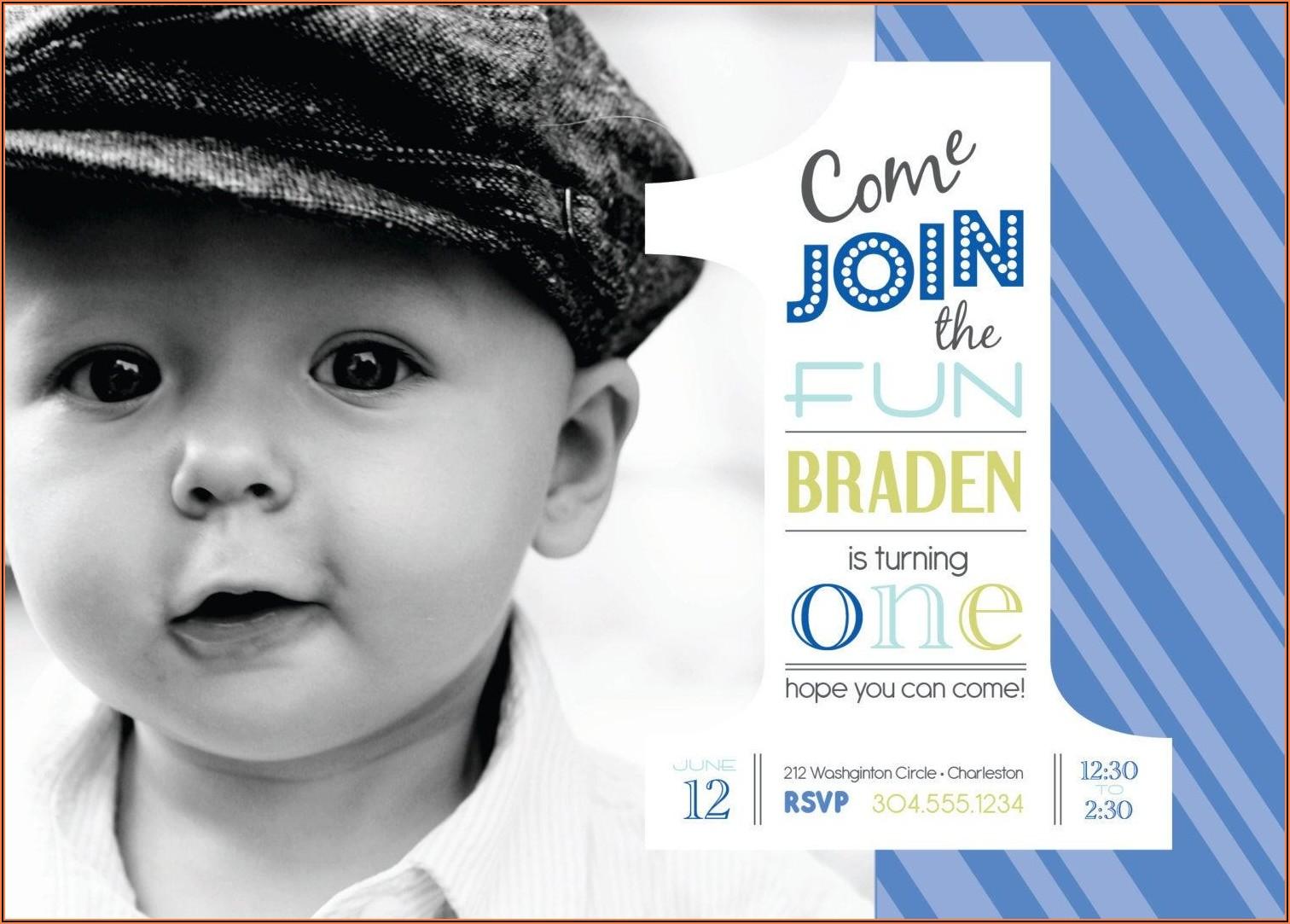 1st Birthday Invitation Ideas For A Boy