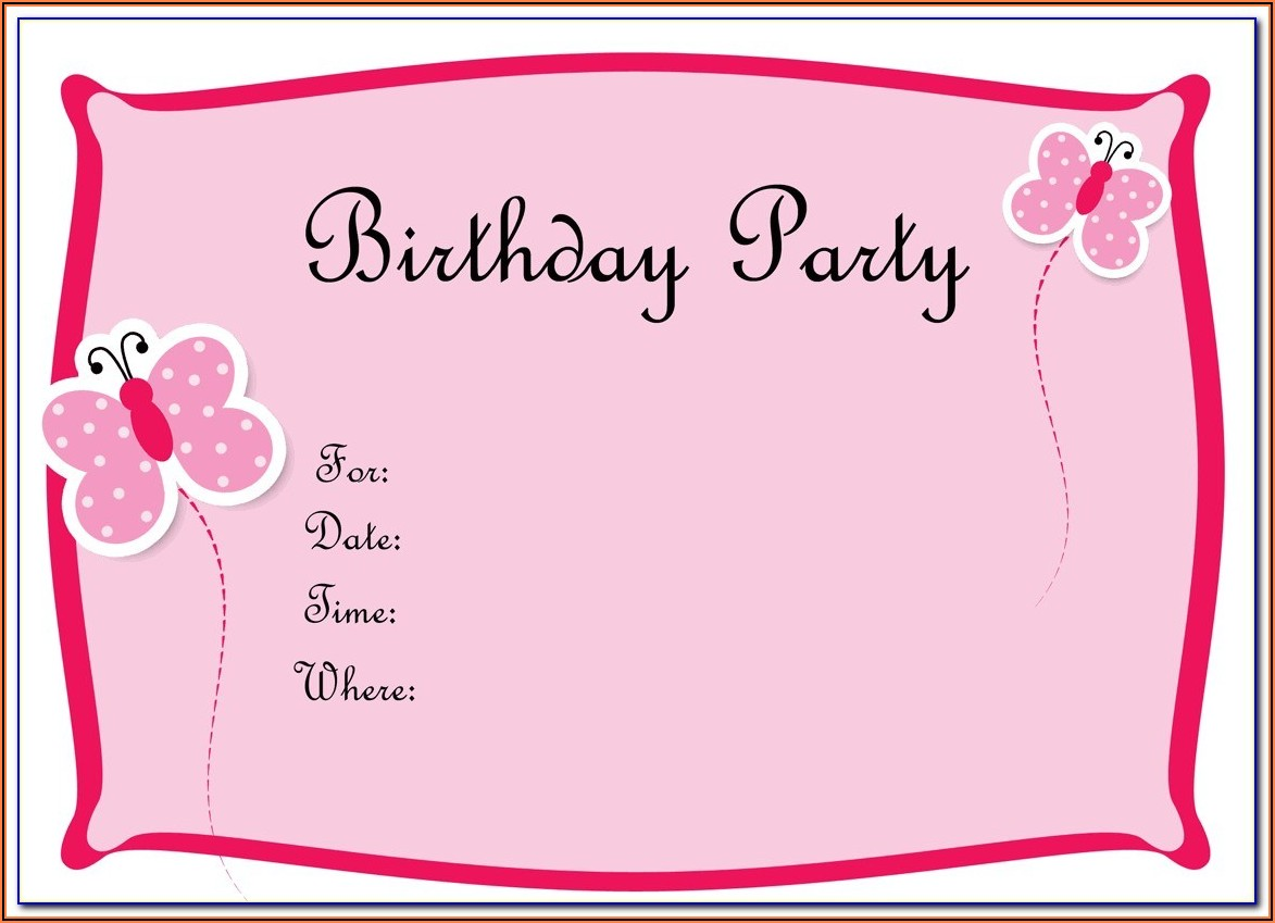 1st Birthday Invitation Templates Photoshop Free