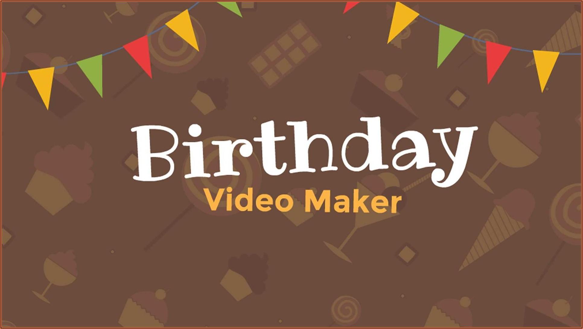 1st Birthday Invitation Video Template Free