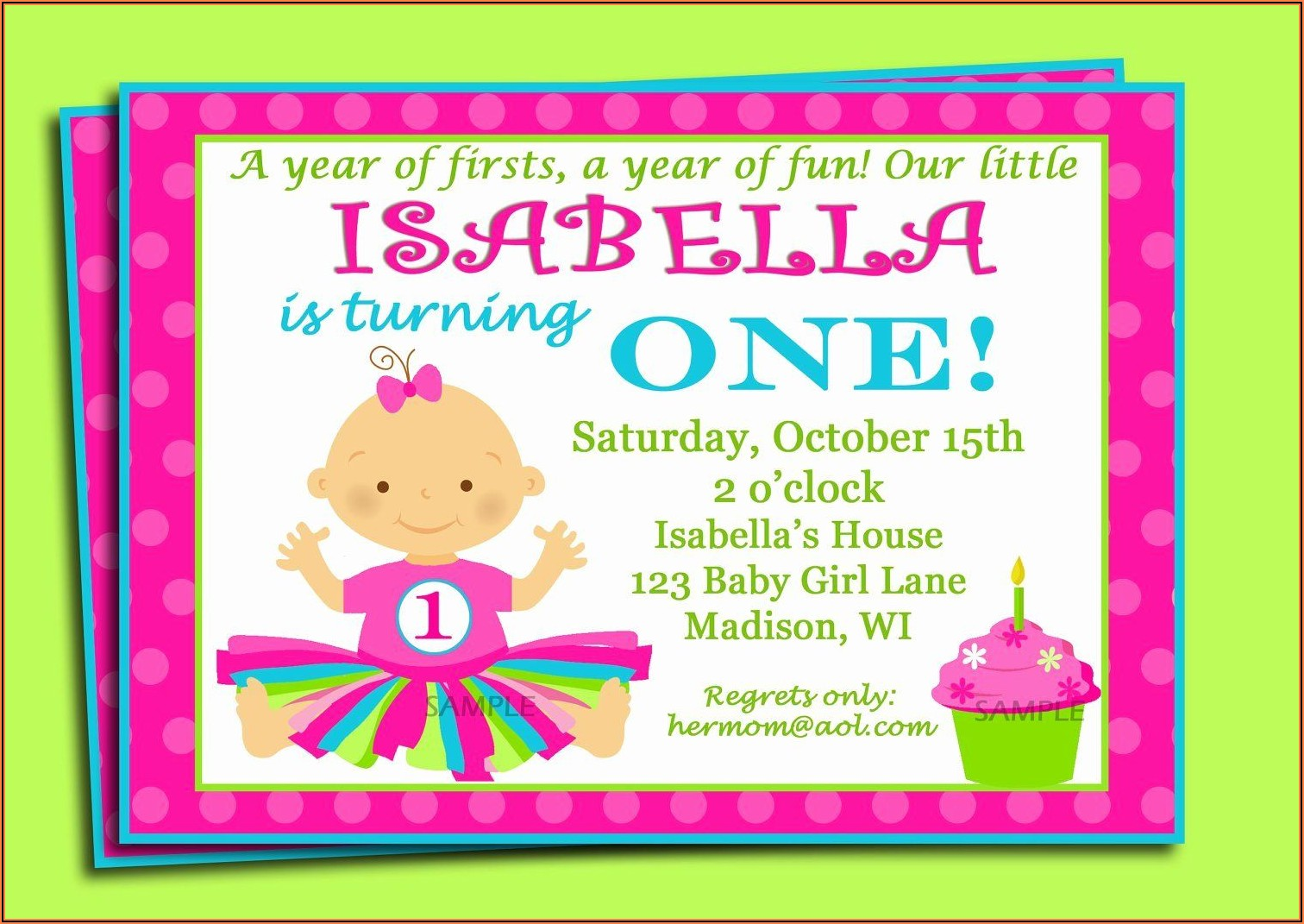 1st Birthday Invitation Wording Samples