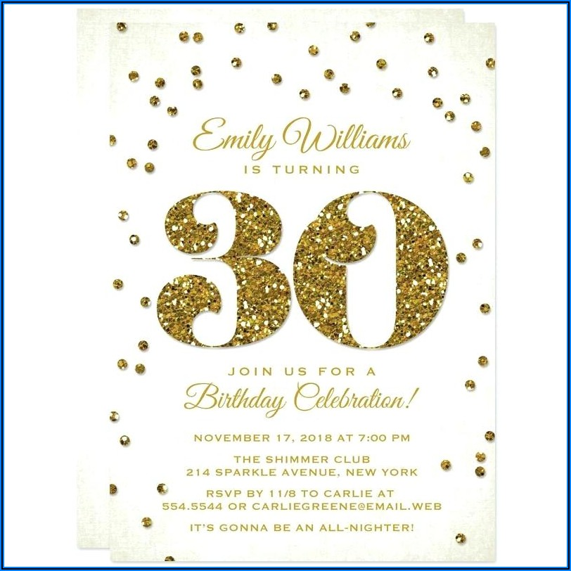 30th Birthday Invitations Funny