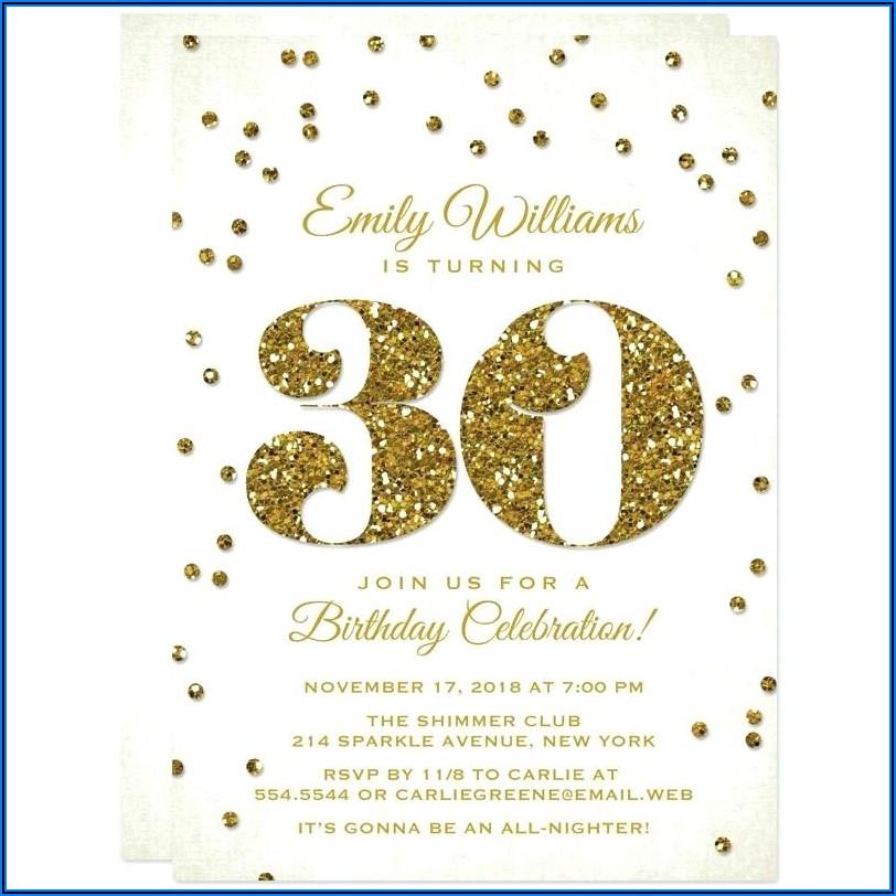 30th Birthday Invitations Funny