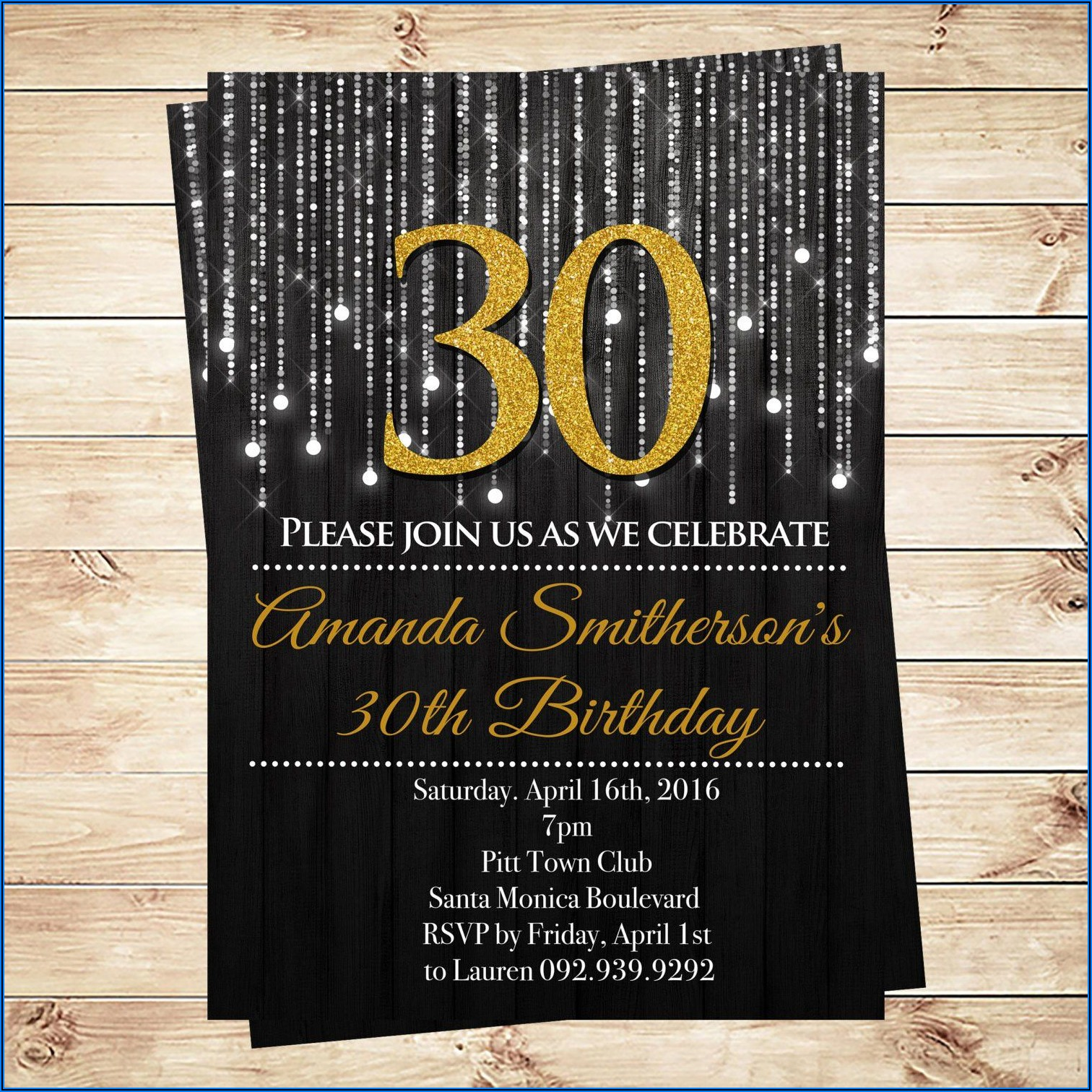 30th Birthday Invitations Ideas