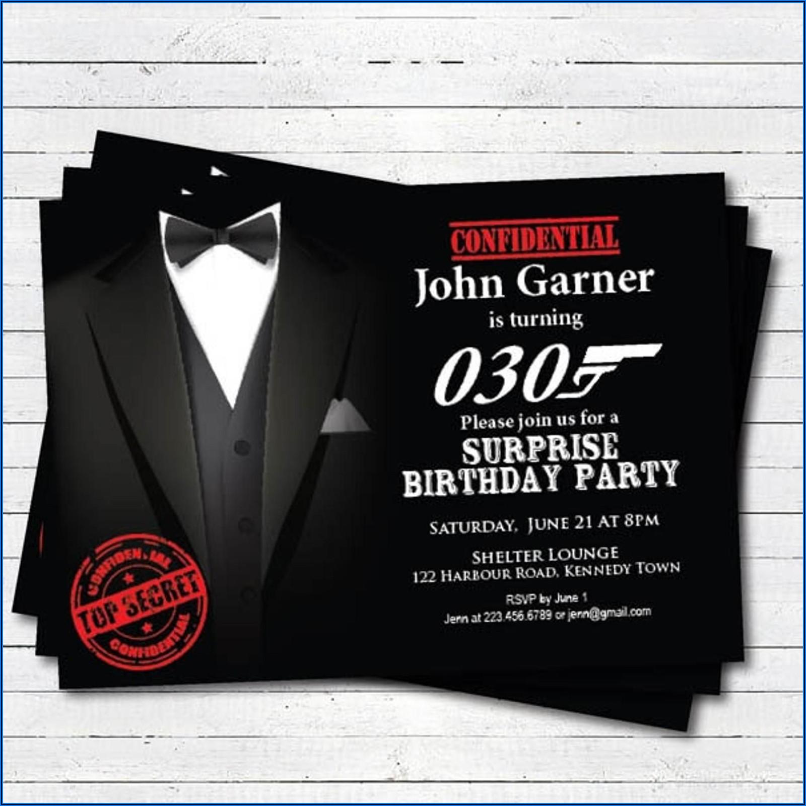 30th Birthday Invitations Man