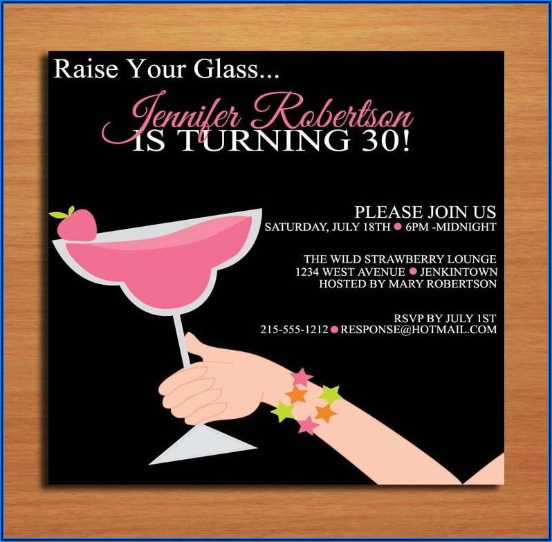 30th Birthday Party Invitation Funny