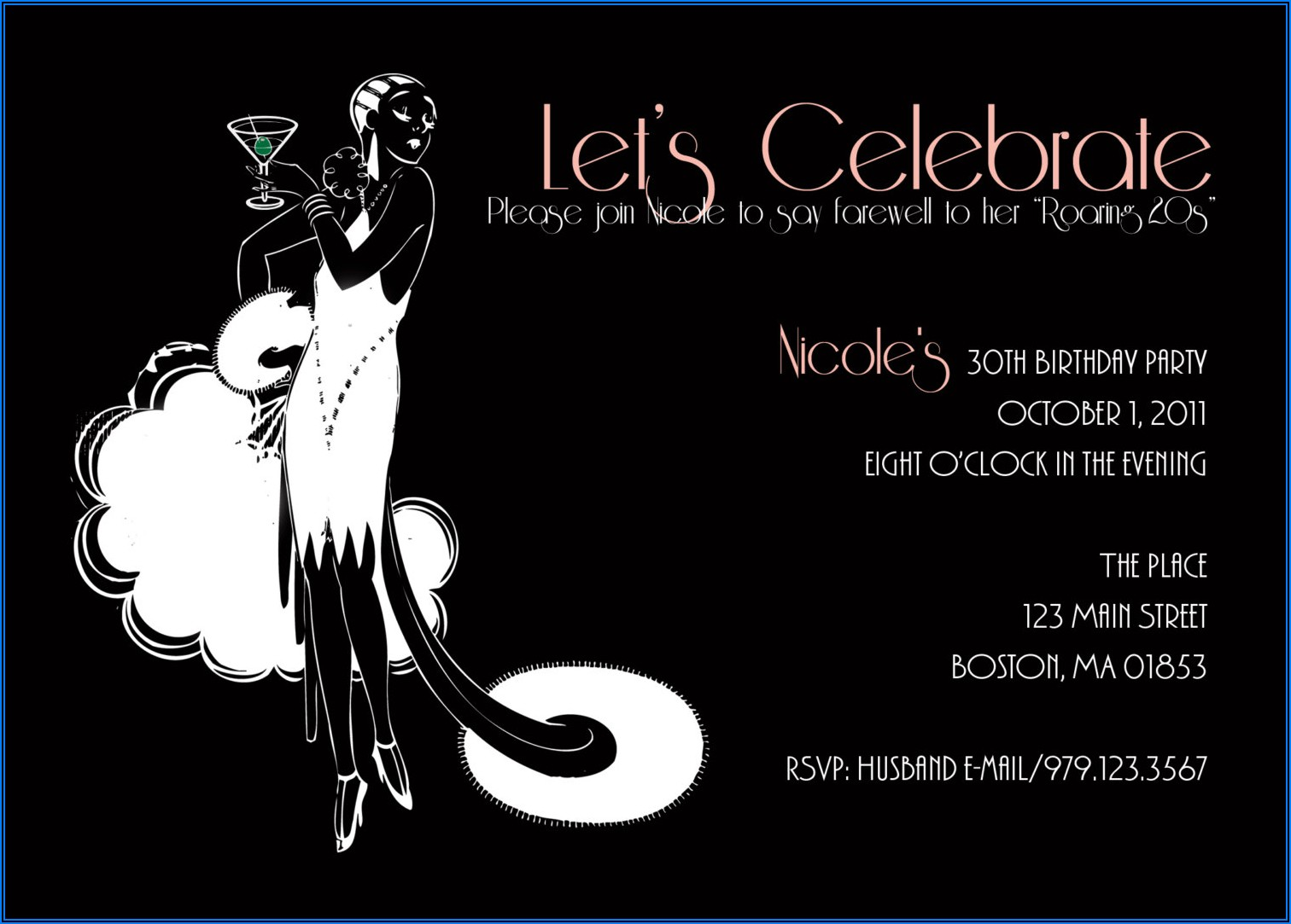 30th Birthday Party Invitations Saying