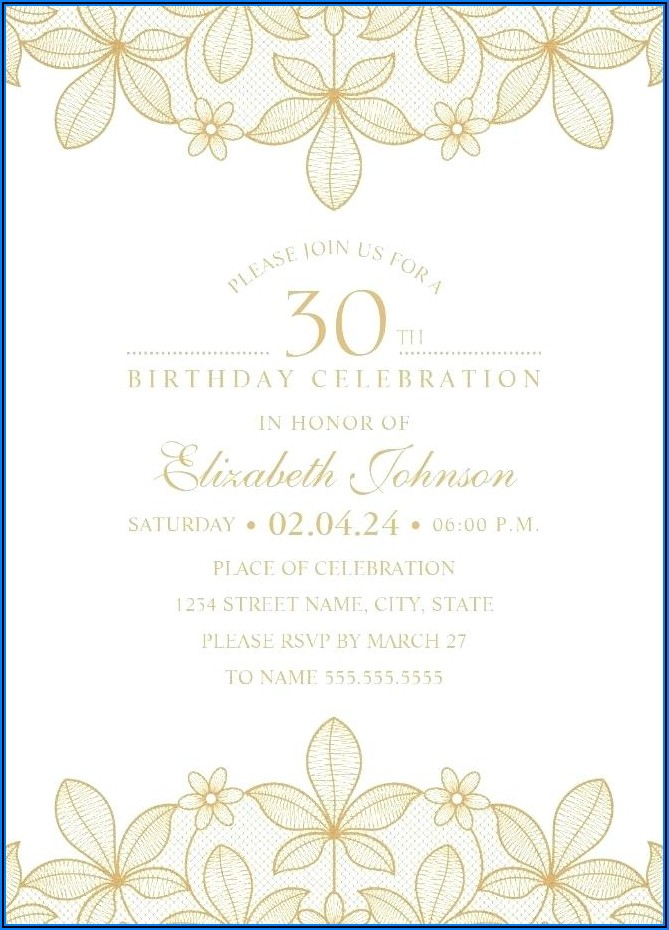 30th Surprise Birthday Invitations Templates