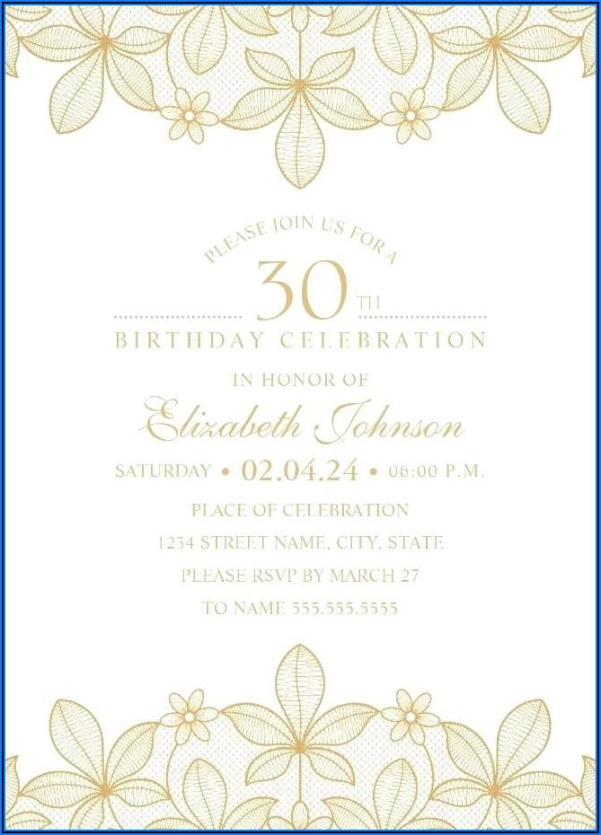 30th Surprise Birthday Invitations Templates