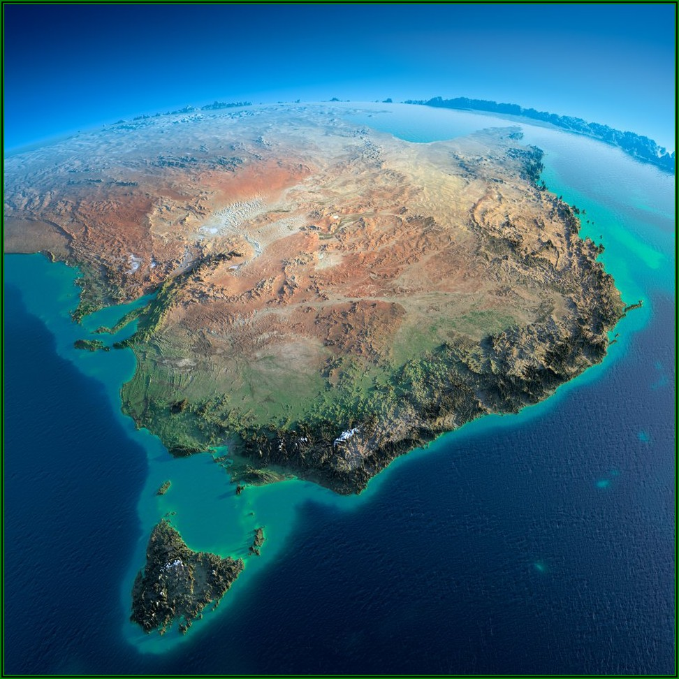 3d Relief Map Of Australia