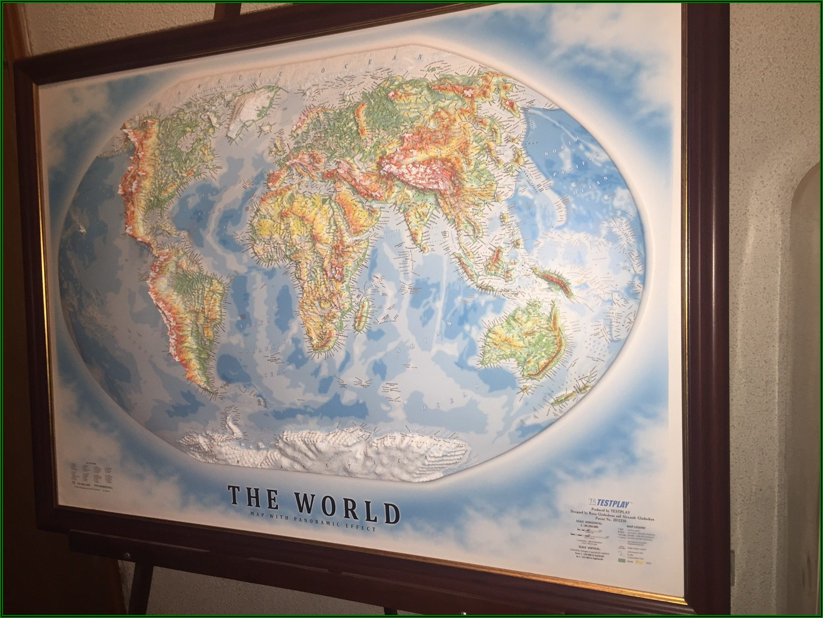 3d Relief Map Of The World
