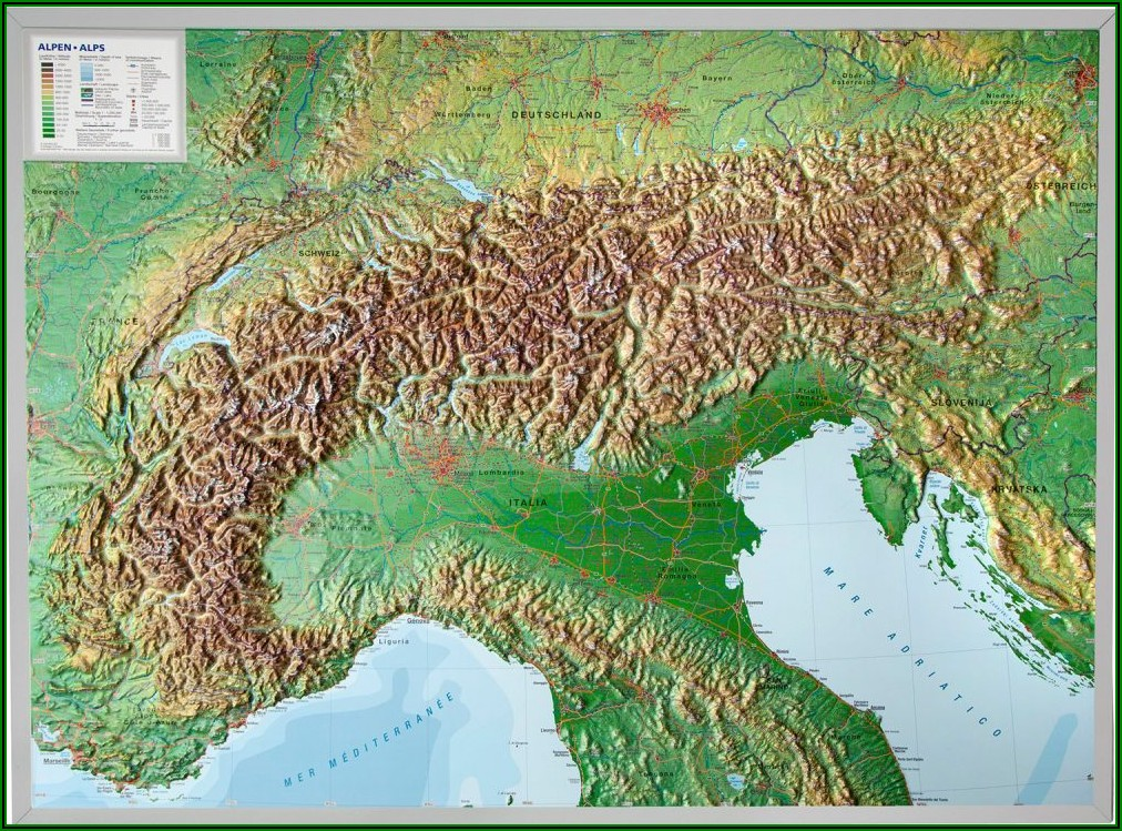 3d Relief Map