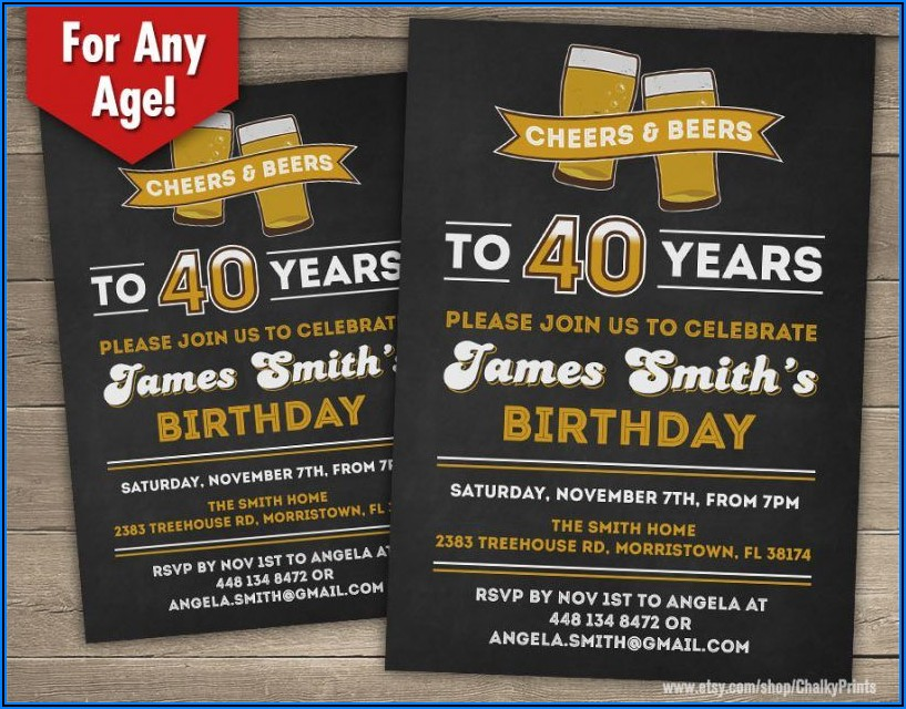 40th Surprise Birthday Invitation Wording
