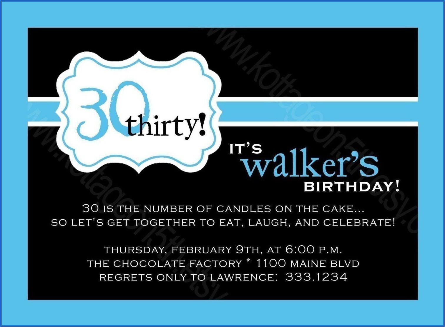 40th Surprise Birthday Invitations For Him