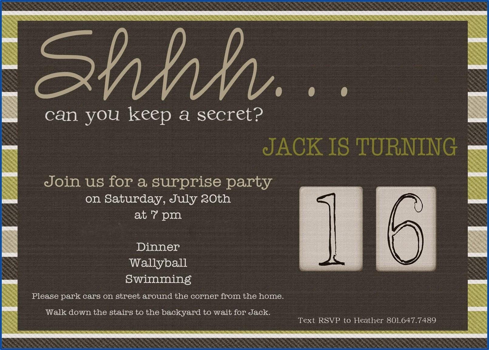 60th Birthday Surprise Invitation Wording