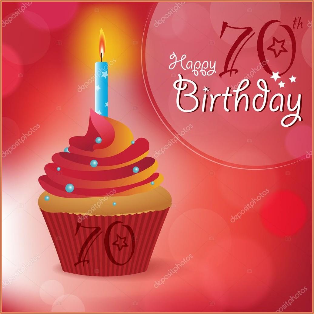 70th Birthday Invitation Images
