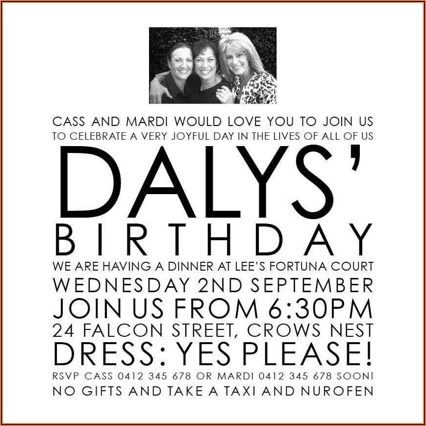 70th Birthday Invitations Au