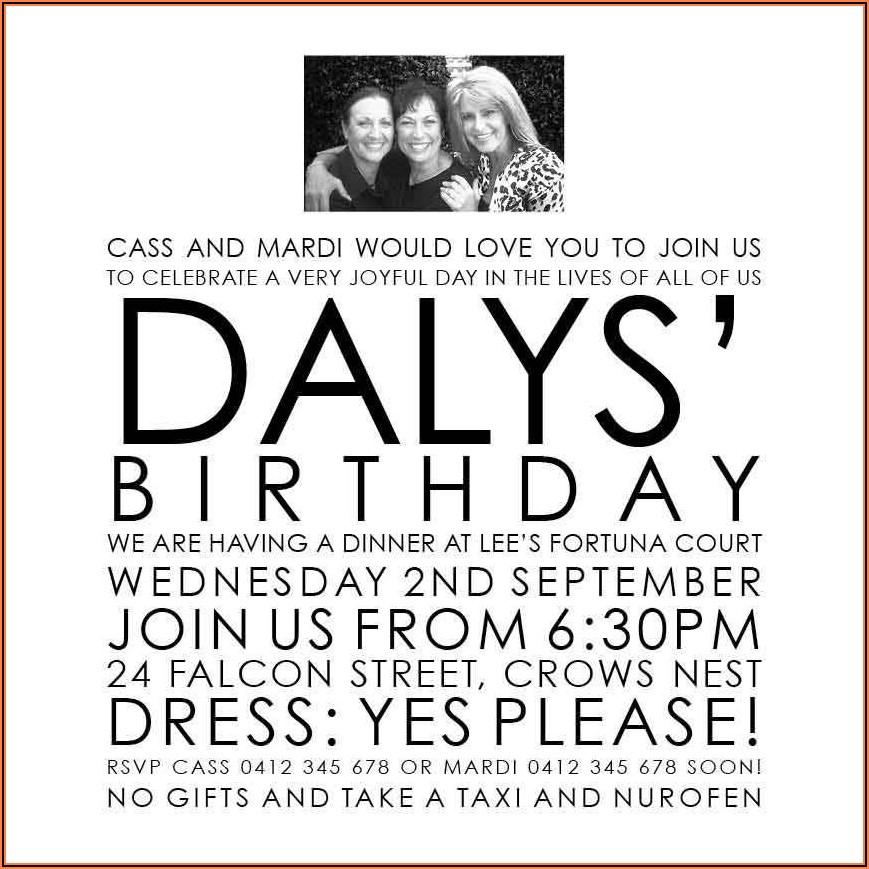 70th Birthday Invitations Au